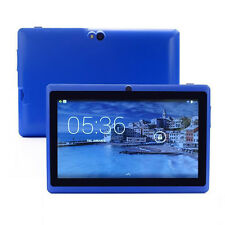 """Blue 7"""" Inch 8GB Android 4.4 1.3GHz Quad Core Tablet PC Dual Camera Touch Screen"""