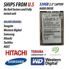 "320GB SATA HDD Internal 2.5"" Laptop Hard Drive Seagate Hitachi Western Digital"