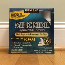KIRKLAND FOAM MINOXIDIL 5% MENS HAIR LOSS REGROWTH GENERIC 6 MONTHS APPLY