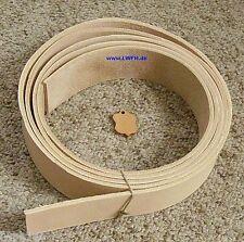 Lederriemen Blankleder Riemen Rohling 220,0 cm x 4,0 cm für Gürtel Punzieren