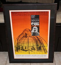 Planet oF The Apes CineMasterpiece Originial Movie Poster 68 Framed Museum Glass