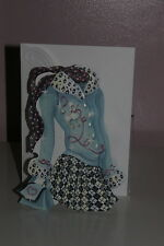 Carol's Rose Garden - Friendship Card - Young girls outfit w/ Poodle on sweater