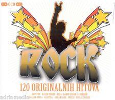 ROCK 120 originalnih hitova Box 6 CD Hitovi CROATIA Azra Haustor Balkan Adastra