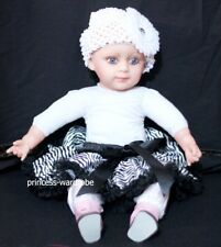 Newborn Black Zebra Baby Pettiskirt Pageant Tutu N07