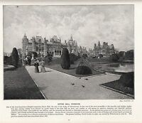 1897 Viktorianisch Aufdruck ~ Eaton Hall Cheshire Seat Der Duke Von Westminster