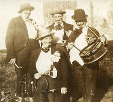 VINTAGE 1930 NILES MI COOMBS STUDIO HUNGRY FIVE HOBOS CLOWNS COSTUMES PHOTO