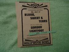 Blood, Sweat & Tears  Gordon Lightfoot 1970 concert ad Hollywood Bowl KRLA radio