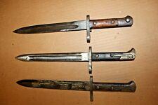 New listing 3 Bayonets 1 M38 2 Misc Mystery Mauser bayonet Rusty #Y1
