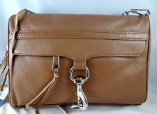 Rebecca Minkoff MAC TAUPE LEATHER  LARGE CROSSBODY MESSENGER BAG