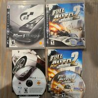 Lot of 2 PS3 Games - Full Auto 2 Battlelines & Gran Turismo 5 Prologue CIB Sega