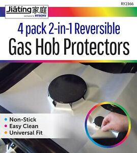 4 X Gas Hob Stove Cooker Cover Reversible Protector Range Liner Non Stick