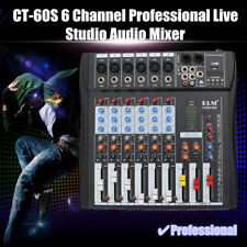 ELM CT-60S 6 Channel Professional Live Studio Audio Mixer USB Mixing Console 48V