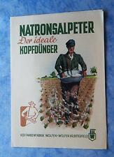 Prospekt Natronsalpeter Kopfdünger Dünger für Getreide Rüben Landwirtschaft 1953