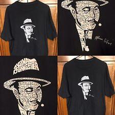 Original Gangster Alphonse Al Capone Chicago Mob Scarface Black T Shirt Men's L