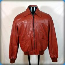 PAUL'S Vtg Soft Leather Biker JACKET Mens Size M Red w/ zip out liner