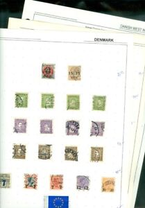 EDW1949SELL : DENMARK and D.W.I. Nice clean Mint & Used collection. Sc Cat $351.