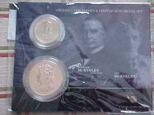 2013 William & Ida McKinley Presidential Dollar Coin///First Spouse Medal Set