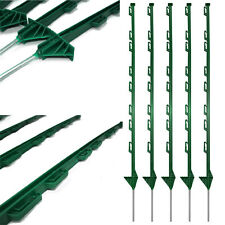 Plastic Fencing Stakes Event Horse Paddock Safety Barrier Mesh Posts White Green