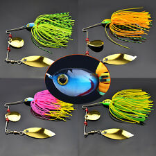 Spinner Fishing Lure Paillette Bass CrankBait Crank Bait Tackle Hook Mixed Color