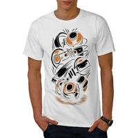 Wellcoda Music Headphones Fashion Mens T-shirt,  Graphic Design Printed Tee