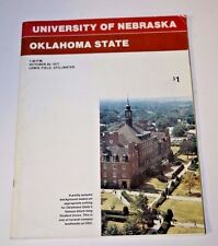 Vtg 1977 Oklahoma State College Football Program Guide vs  Nebraska