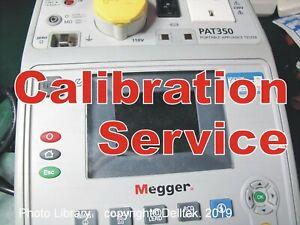 Calibration Service:  Pat Tester  Megger Pat 350. Fast Reliable Turnaround