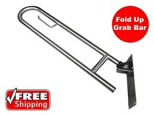 NEW FOLD DOWN SAFETY RAIL GRAB BAR DISABLED TOILET STAINLESS STEEL VERTICAL LOCK