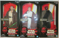 "STAR WARS 12"" 1:6 TPM Hasbro Obi-Wan Kenobi- Qui-Gon Jinn Darth Maul NIB"