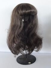 "100% Human Hair DOLL WIG  16"" (40.5 cm). Long hair - Georgette BRAVOT - FRANCE"