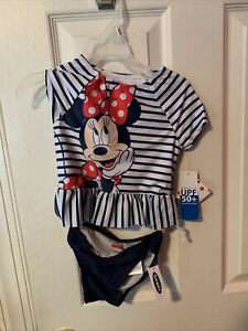 OLD NAVY Disney MINNIE MOUSE Toddler Girls Two Piece Swim Suit 4T NWT
