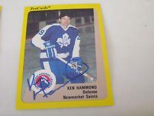 KEN HAMMOND AUTOGRAPHED 1989 AHL PROCARDS CARD-NEWMARKET SAINTS