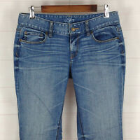 Ann Taylor LOFT Curvy Bootcut womens size 6 x 33 stretch med wash low rise jeans