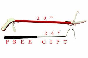 """30""""inch Reptile Snake Tongs Grabber Catcher Stainless Steel Cable With FREE GIFT"""