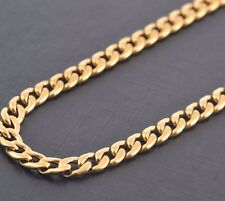 """3mm 14"""" Long Stainless Steel Curb necklace Link Chain Pendant Gold Tone Stcr3G"""