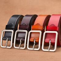 Unisex Leather Belt Retro Casual Pin Buckle Waist Belt Waistband Belts Strap New