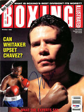 Julio Cesar Chavez Autographed Signed Boxing Illustrated Cover PSA/DNA S48506