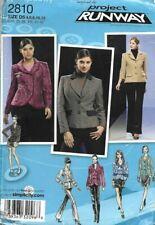 Simplicity Sew Pattern 2810, Project Runway, Smart Shaped Jackets, 4-12 New