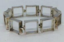 NE From Denmark Vintage Sterling Silver Modernist Square Link Bracelet