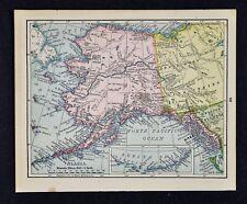 1900 McNally Map Alaska Sitka Yukon Klondike Gold Region Dawson Chilkoot Pass AK