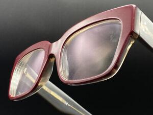 Celine CL 4152 NIB Eyeglasses Burgundy/Grey Crystal 52-20 Frame Only  Italy