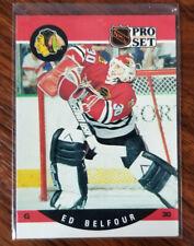 1990 Pro Set NHL Hockey #528 Ed Belfour Chicago Blackhawks Rookie Card