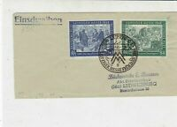Germany 1948Leipziger Fair Slogan Cancel Historical Scenes Stamps Cover Rf 35088