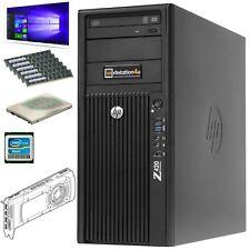 6-Core hp Z420 Workstation Xeon E5-2640 Ram 32GB SSD 120gb HDD 1TB+GTX1060 6gb