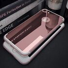 Mirror Back Cover with Rubber Crystal Clear Bumper Case Cover for iPhone 7 Plus