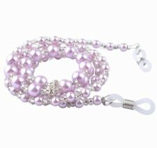 Purple beaded cord chain lace lanyard strap mag reading sun spectacle eyeglasses