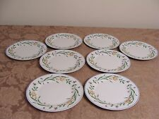 8 Casa Mia Alloro Floral Pattern Dinner Plates