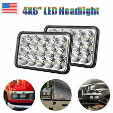 """4""""x6"""" LED Headlight 45W Bulbs Clear Sealed Hi/Low Beam Replacement DRL Lamp Pair"""