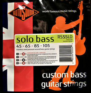 Rotosound Bass Strings. Stainless Steel Pressure Wound. Solo Bass. RS55LD
