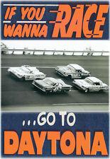 VINTAGE REPRODUCTION RACING POSTER 1959 DAYTONA NASCAR STOCK CAR RACES