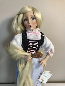 Dianna Effner Collectible Rapunzel Porcelain Doll By Knowles COA 1991
